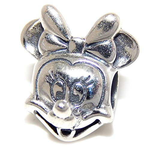 ICYROSE Solid 925 Sterling Silver Mouse w/Bow Charm Bead 580 for European Snake Chain Bracelets