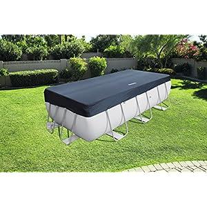 Bestway 58232 – Cubierta para piscina de estructura splash 404 × 201 cm / 412 × 201 cm, medidas de cobertor 3.96 m x 1.85 m