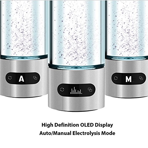 CloudCUP Hydration Tracker Smart Bottle 480ml 16oz (Hydrogen Water Maker | Bluetooth | iOS/Android App | Touchscreen | TDS | Thermometer ) by Geniway by Geniway (Image #3)