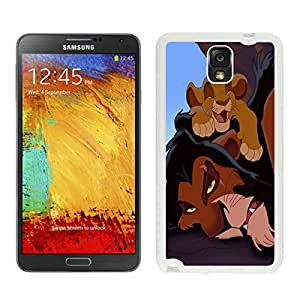 Samsung Note 3 Case,Excellent protection The Lion King Simba Scar White For Samsung Note 3 Case