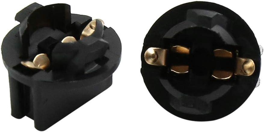 uxcell T10 Wedge Twist Base Socket Light Bulb Holder for Car Instrument Panel Dash DC 12V 25pcs