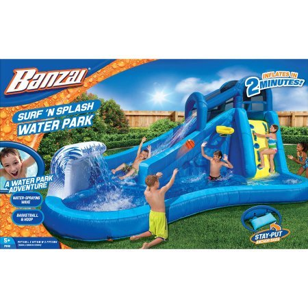 Best Outdoor Inflatable Waterslide for Kids | Banzai Surf 'N Splash Water Park by Banzai. (Image #2)