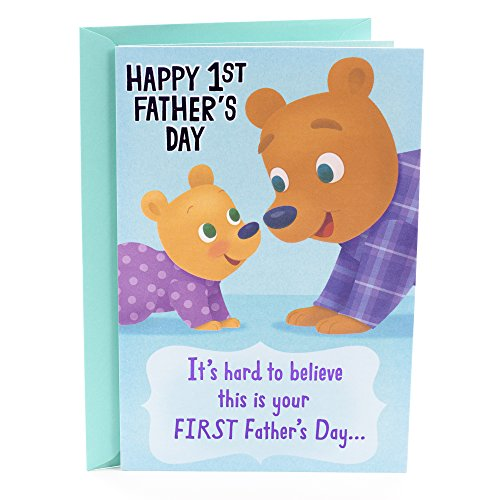Hallmark Father's Day Greeting Card for Daddy (First Father's Day Cute Bears)