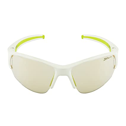 fca77bb531 Julbo Venturi Motorbike Riding Goggles (Shiny White and Green)  Amazon.in   Car   Motorbike