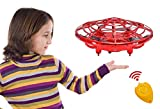 UFO RC Flying Ball Toys, Latest Hand-controlled Mini RC Drone Helicopter with Remote Controller, Infrared Interactive Induction Flying Heli Ball Toys with 360° Rotating and LED Lights for Kids (Red)