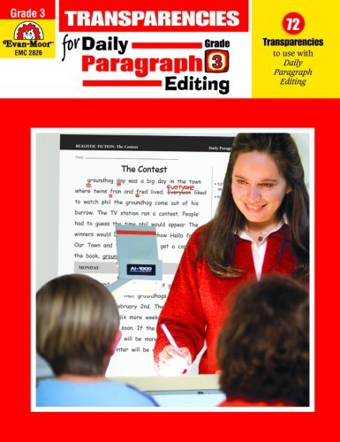 By Evan-Moor Educational Publishers Daily Paragraph Editing Transparencies, Grade 3 [Paperback]