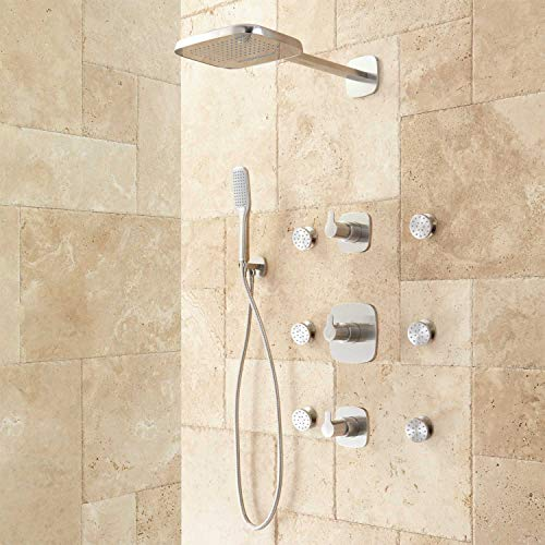 Signature Hardware 405702 Arin Thermostatic Shower System with Hand Shower and 6 Body Sprays - Rough In Included