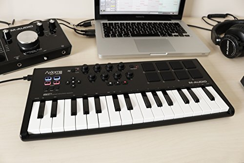 M-Audio Axiom AIR Mini 32 | Ultra-Portable 32 Key USB MIDI Keyboard Controller With 8 Trigger Pads & A Full-Consignment…