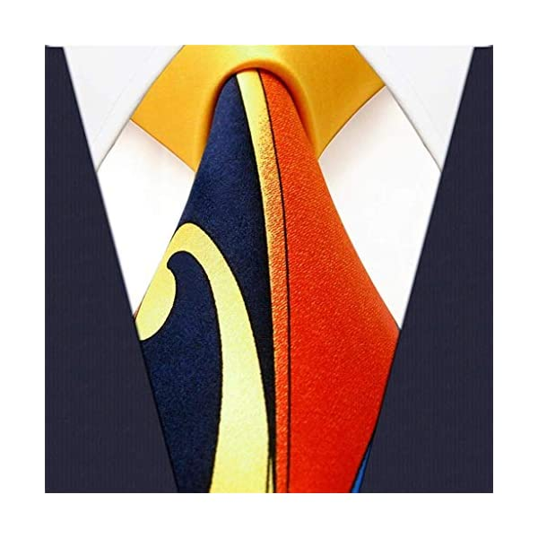 Shlax & Wing Mens Neckties Ties Printed Geometric Multicolor Silk New Classic Size