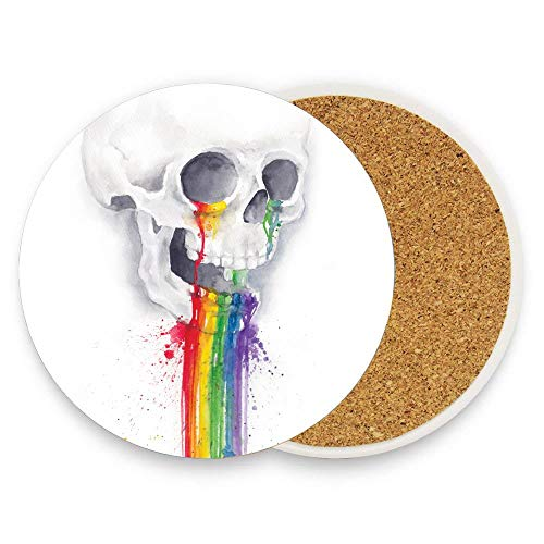 HappyToiletLidCoverX I ate a candy - Absorbent Ceramic Coaster Mat With Cork Base For Drinks Mug Cup Pack Of 1]()