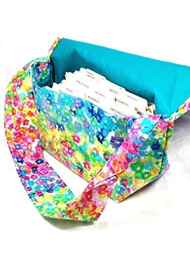 Mega Large Coupon Organizer Floral Watercolor Fabric