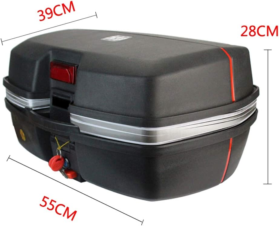 Motorradkoffer Top Case Motorrad Topcase Helmkoffer f/ür 2 Helme f/ür Roller Mofas und Quad Scooter Motorr/äder