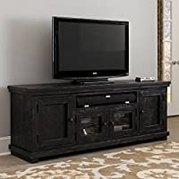 Progressive Furniture Willow Distressed Black 74 Media Console