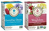 Traditional Medicinals Non-GMO Herbal Tea 2 Flavor Variety Bundle: (1) EveryDay Detox, and (1) Organic Weightless, 16 Bags Ea.