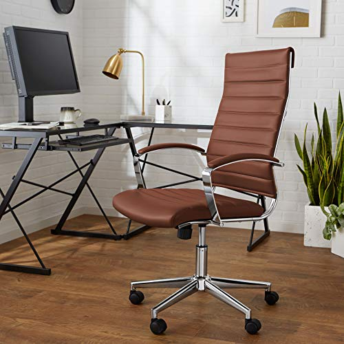 High-back executive swivel office chair