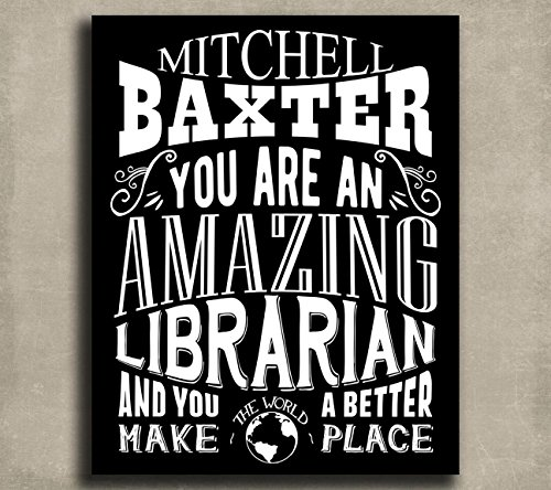 Amazing Librarian Custom Plaque Tin Sign Gift For Library Director Curator Bibliognost Catalog Typography Personalized Metal Art Print #1208
