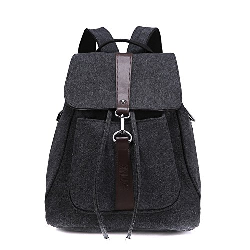 Classic Retro Casual Canvas Backpack Daypack Schoolbag for Women and Girls
