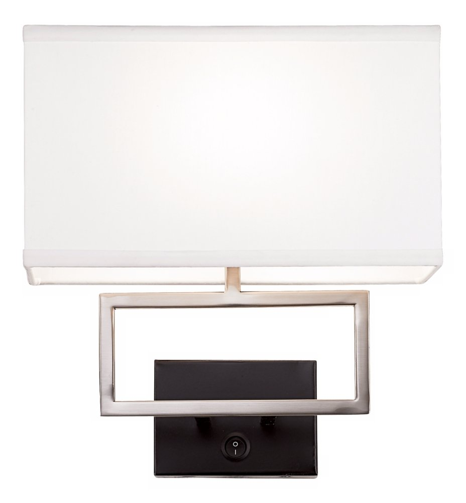 Possini Euro Brushed Steel Rectangle Plug In Wall Light   Wall Sconces    Amazon.com