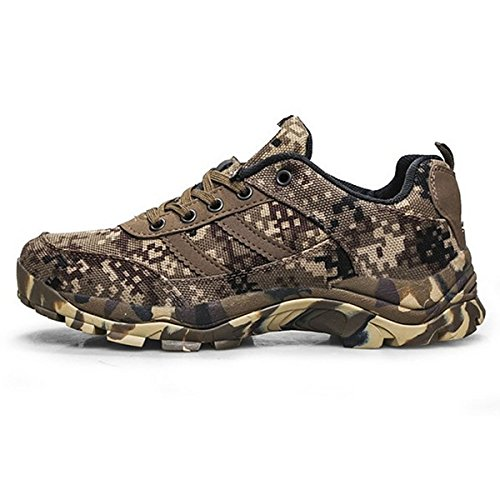 CHNHIRA Unisex Camouflage Outdoor Lace Up Shoes Working Canvas Hiking Boots ybscA