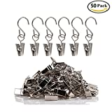 Vpang 50 Pcs Gutter Hangers for Lights Party Light Hanger Outdoor Activities Wire Holder Curtain Clips with Hooks