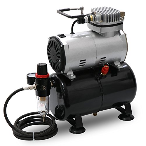 Portable Quiet Airbrush Air Compressor 1/5 HP with Tank