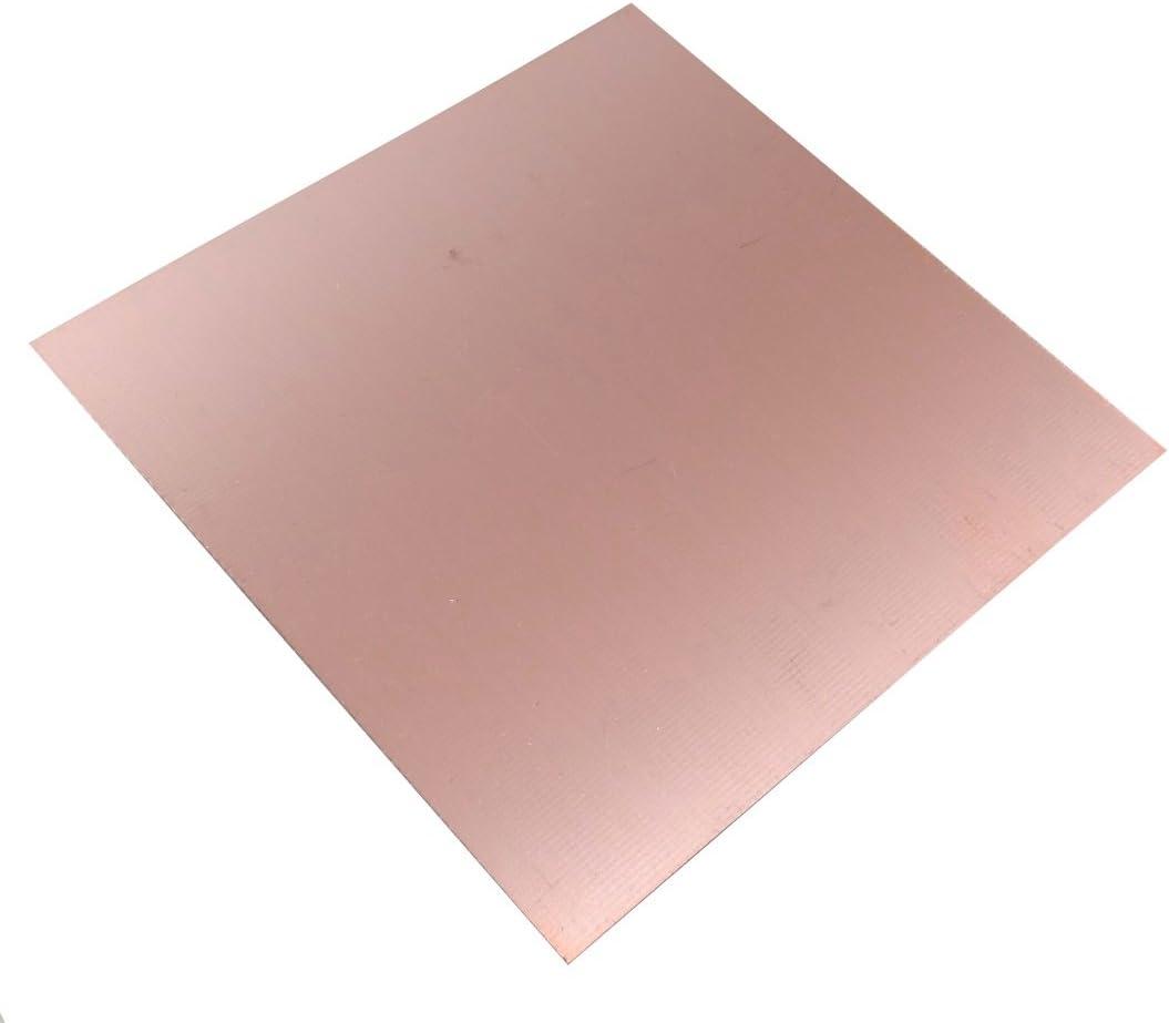 AERZETIX Plaque Planche Feuille en cuivre pour Circuit imprim/é 100//100//0.6mm 18/µm r/ésine epoxy Fibre de Verre C40580