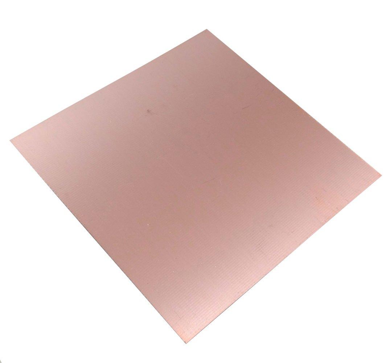 Placa Hojas de Cobre para Circuito Impreso 100//100//0.6mm 18/µm Resina epoxi de Fibra de Vidrio C40580 AERZETIX