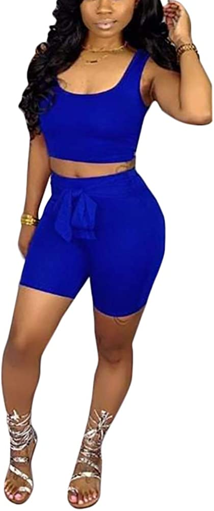 Adogirl Womens/Sexy/Two/Piece/Outfits/-/Sport/Jumpsuit/Rompers/Tank/Tops/+/Bodycon/Short Pant/Set