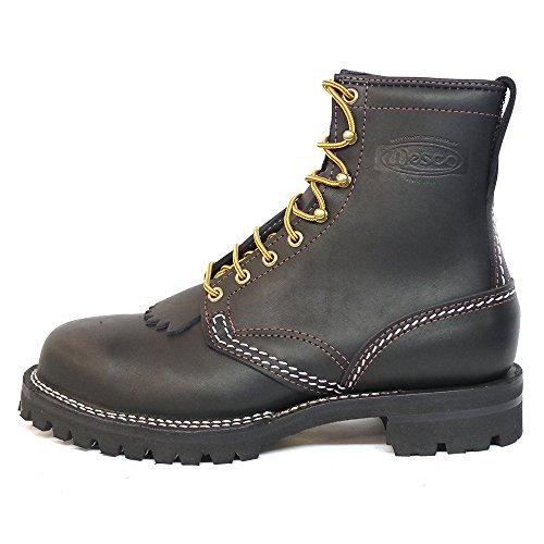 Wesco Jobmaster St208100 Mäns Arbete Stövlar Svart Läder # 100 Vibramsula 8? Höjd