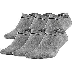 Women's Nike Lightweight No-Show Socks (MD (Women's Shoe 6-10), GREY HEATHER/BLACK)