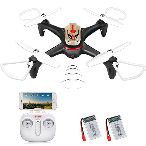 DoDoeleph X15W WIFI FPV Drone with Camera Real Time Video 2.4GHz 4CH 6-Axis Gyro RC Quadcopter with Altitude Hold, 3D Flips, Headless Mode, LED Lights 2 Batteries Perfect for Beginners Kids Adults