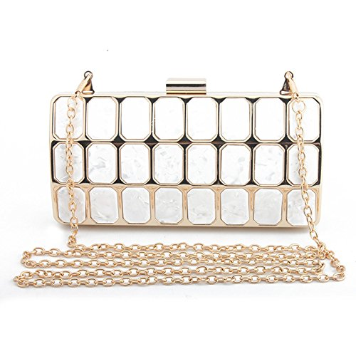 Elegant Women Evening Party Ceremony Small Evening Bag for with Cocktail Handbag Wedding Long Bag Clutch White Handbag for for Shoulder for Bag Wallet with BqTTw8Ia