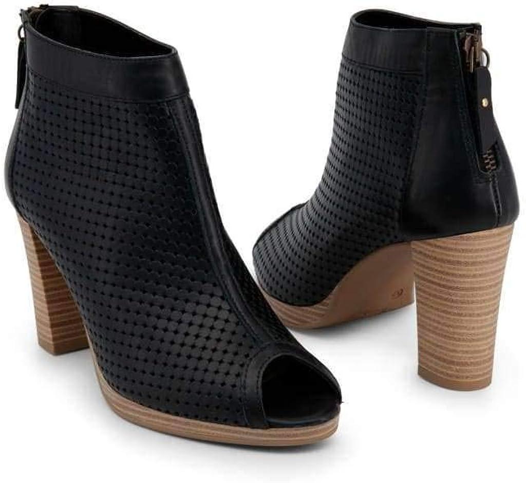 7104K117/_Nero Arnaldo Toscani Womens Leather Ankle Boots
