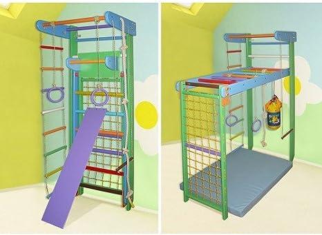 Madera campo de juego infantil, Centro de actividades, escalera sueco Transformer-3. Envío gratis (Altura: 210 cm, Buratos): Amazon.es: Bebé