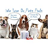 FDA Dr. Pets Pet Pee Training Pads Quick Dry Black Carbon Gel Leak Proof Design FREE Wipes FDA (23 X 23 L 40 PCS)