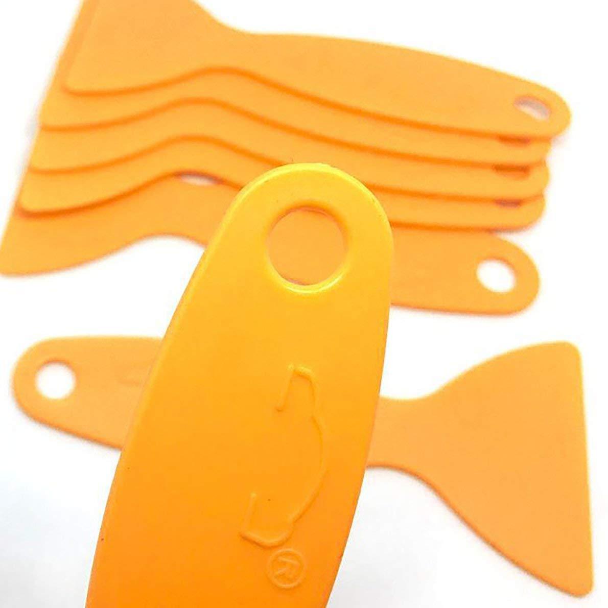 Uqiangbao Scraper Plate Glass Yellow Film Tools Wrapping Film Application Squeegee Scraper Tools Plastic Bubble Window Car Stickers Car Electronics & Accessories Car Electronics Accessories