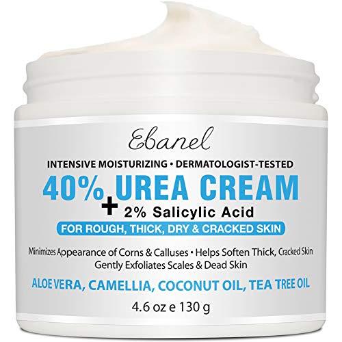 Urea Cream 40% Plus Salicylic Acid 4.6 Oz, Callus Remover Hand Cream Foot Cream For Dry Cracked Feet, Hands, Heels, Elbows, Nails, Knees, Intensive Moisturizes & Softens Skin, Exfoliates Dead Skin
