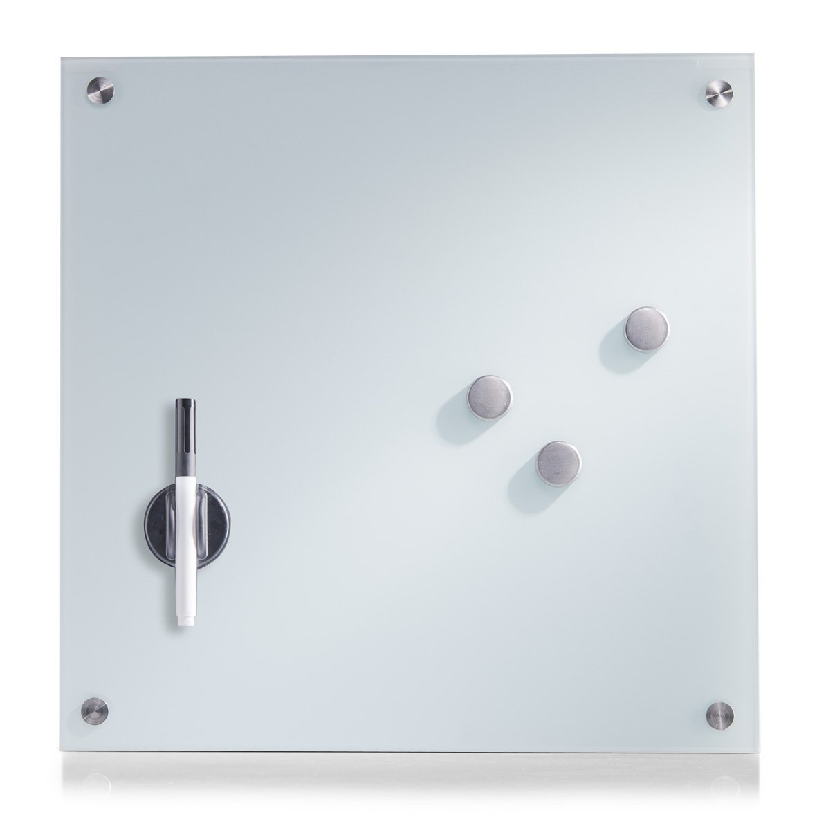 Zeller 11600 Tablero de Notas, Blanco, 40x40x3 cm