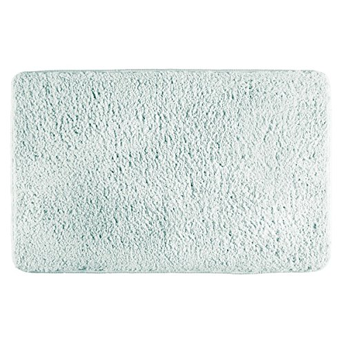 Light Blue Accent (mDesign Soft Microfiber Polyester Non-Slip Rectangular Fuzzy Mat, Extra-Plush Water Absorbent Accent Rug for Bathroom Vanity, Bathtub/Shower, Machine Washable - 34