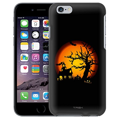 Apple iPhone 6 Case, Snap On Cover by Trek Haunted House on Black Case (Haunted Houses Ideas)