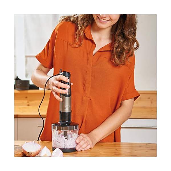 BLACK+DECKER BXHBA1000E Frullatore a Immersione, 1000 W, Inox/Plastica, Nero/Acciaio 4
