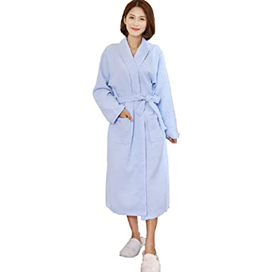 b662874a5e Women Waffle Kimono Robe Cotton Dressing Gown Lightweight Bathrobe for Spa  Hotel Sleepwear Bridesmaid Gift Wedding Robes  Amazon.co.uk  Clothing