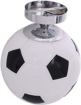 Lámpara de techo de balón de fútbol de vidrio Lámpara colgante de ...