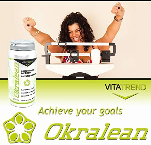 Okralean (60 Capsules) Ultimate Fat Binder, Weight Loss - Clinically Proven to Shed Pounds - All Natural - Vegetarian - Made in The USA 4