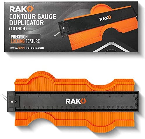 RAK Contour Gauge Shape Duplicator (10 Inch Lock) Template Tool with Adjustable Lock Precisely Copies Irregular and Awkward Shapes – Must Have Tool for DIY Handyman, Construction