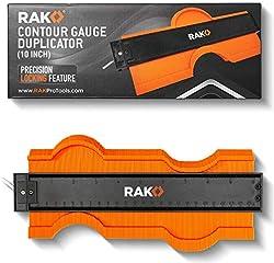 RAK Contour Gauge Shape Duplicator Template Tool with Adjustable Lock Precisely Copies Irregular and Awkward Shapes -...