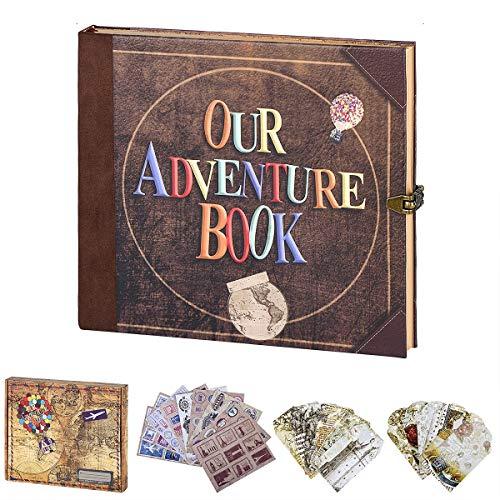 LINKEDWIN Nuestro libro de aventuras, diario de viaje, diario vintage, álbum de fotos Retro UP Scrapbook, regalos de…