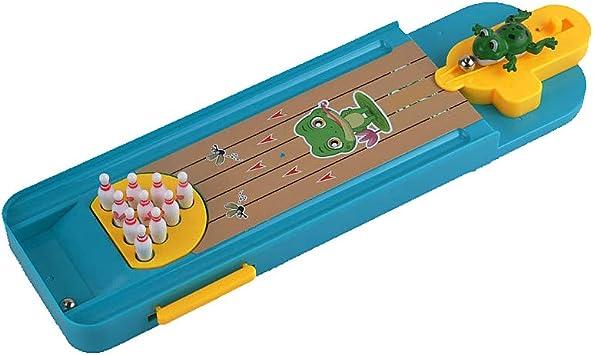 La novedad Mini Juego de mesa Bowling dedo Catapulta rana Bowling ...