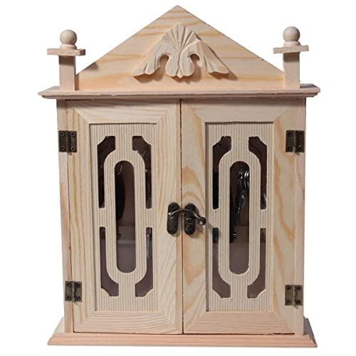 Juvale Key Organizer/Key Cabinet - Natural Wood Key Storage Cabinet - 11 Inches