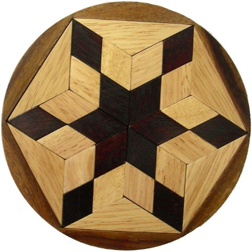 Pento Star Wooden Puzzle Brain Teaser -